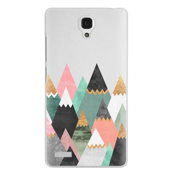 Redmi Note Cases - Pretty Mountains / Transparent