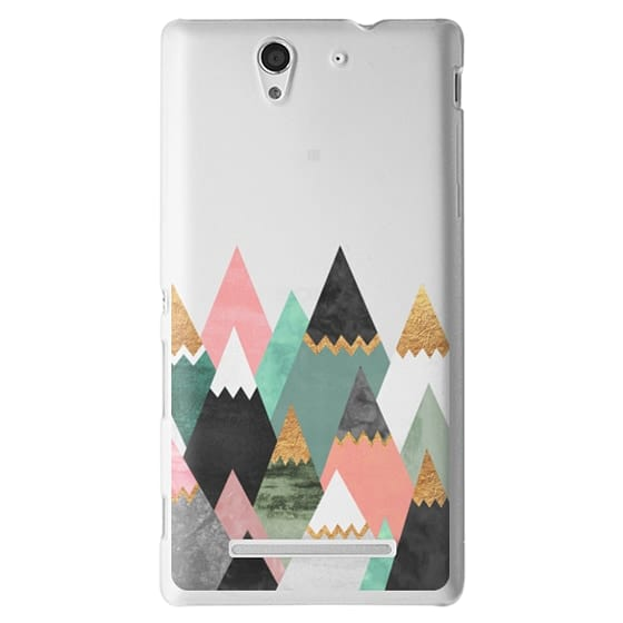 Sony C3 Cases - Pretty Mountains / Transparent