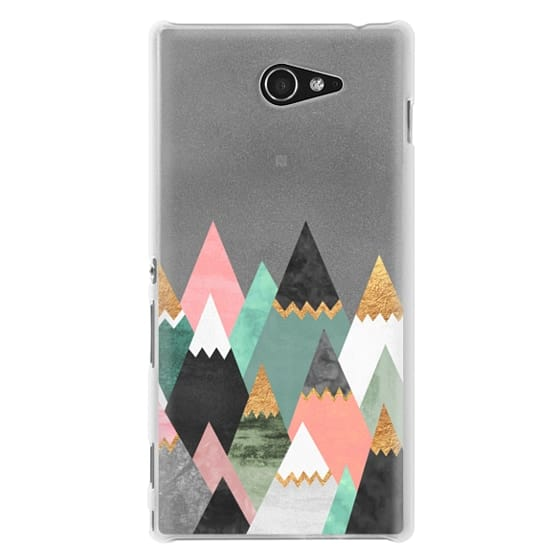 Sony M2 Cases - Pretty Mountains / Transparent