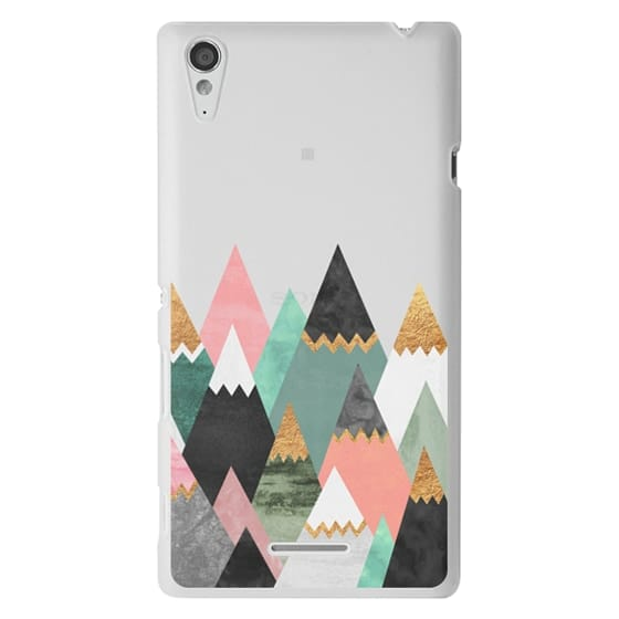 Sony T3 Cases - Pretty Mountains / Transparent