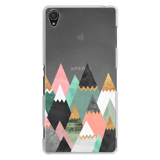 Sony Z3 Cases - Pretty Mountains / Transparent