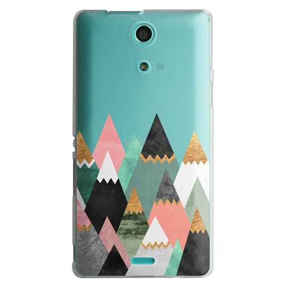 Sony Zr Cases - Pretty Mountains / Transparent