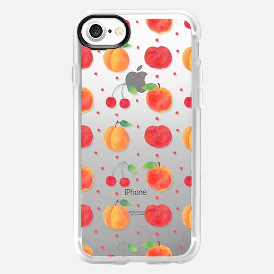 The Prunus Fruits - Transparent - Wallet Case