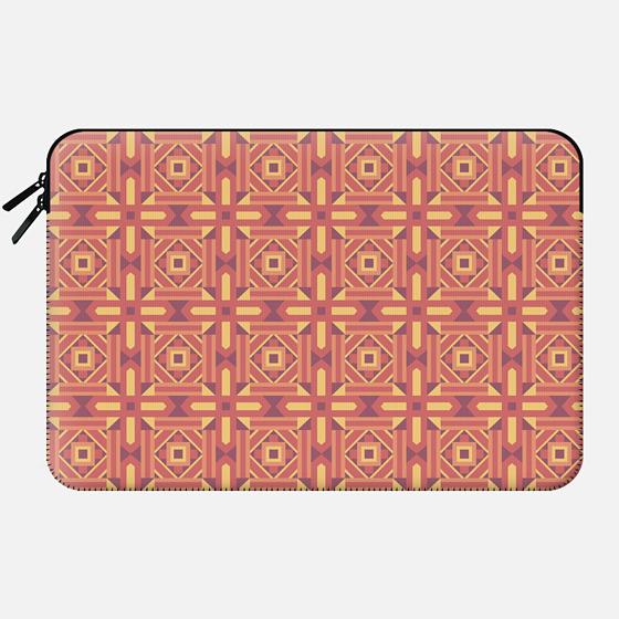 Ethnic Moroccan Motifs Seamless Pattern 7 by Haidi Shabrina - Macbook Sleeve