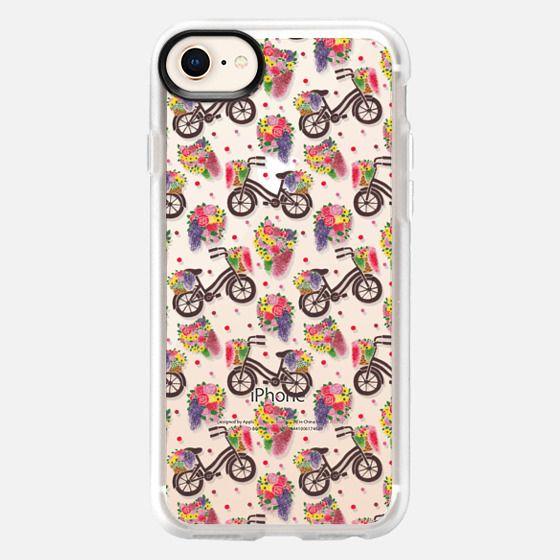 Flower Bike Pattern - Snap Case