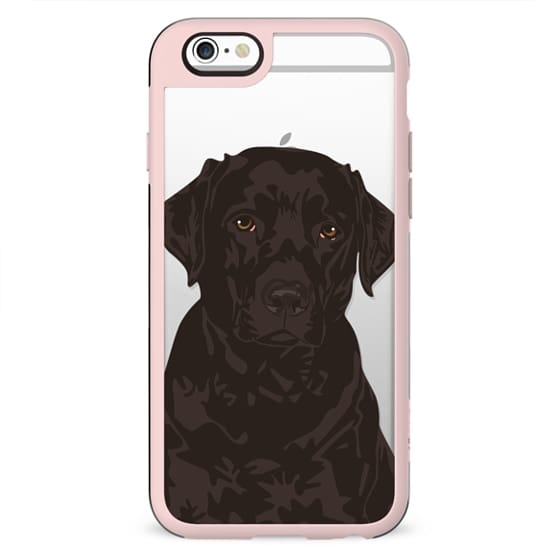 Cool Black Labrador Retriever Clear Case for Dog Lovers