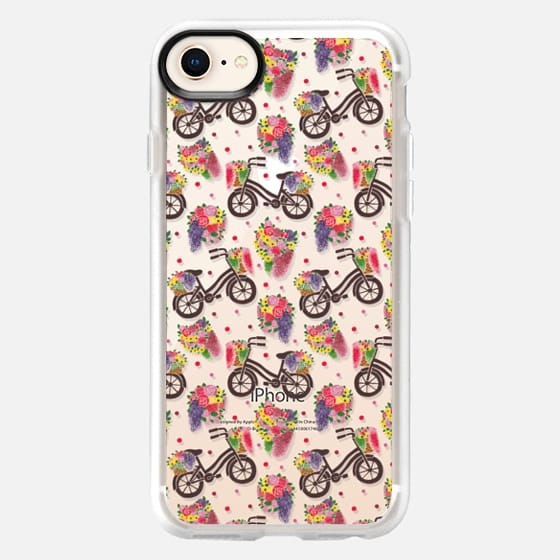 Flower Bike Pattern - Snap Case
