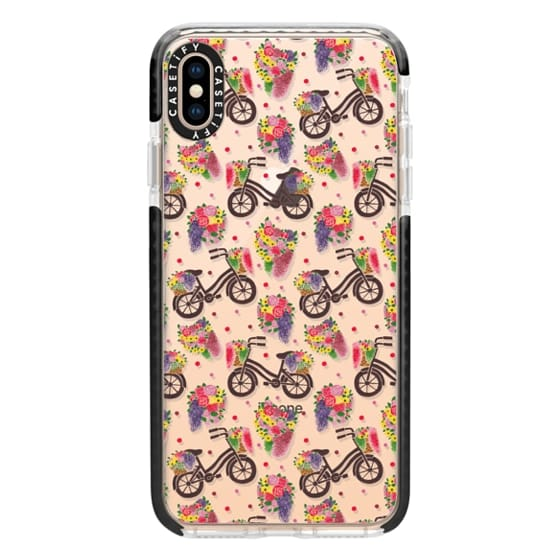 iPhone XS Max Cases - Flower Bike Pattern