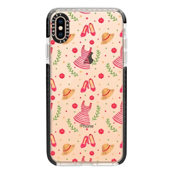 iPhone XS Max Cases - The Striped Vintage Dress Pattern