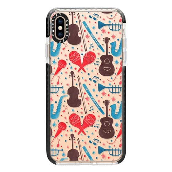 iPhone XS Max Cases - Music Instruments Pattern