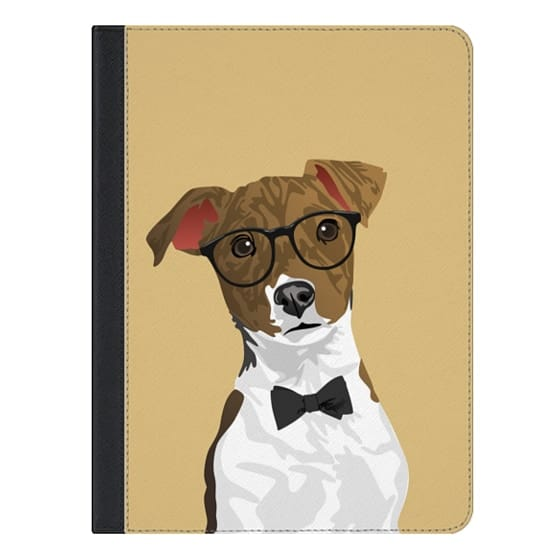 9.7-inch iPad Pro Covers - Hipster Russell Terrier Dog iPad Case for Dog Lovers