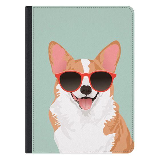 12.9-inch iPad Pro Covers - Cute Smiling Pembroke Welsh Corgi iPad Case