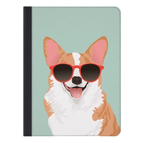 9.7-inch iPad Pro Covers - Cute Smiling Pembroke Welsh Corgi iPad Case