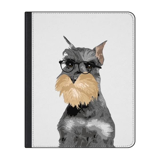 12.9-inch iPad Pro (2018) Covers - Hipster Schnauzer Dog iPad Case for Dog Lovers