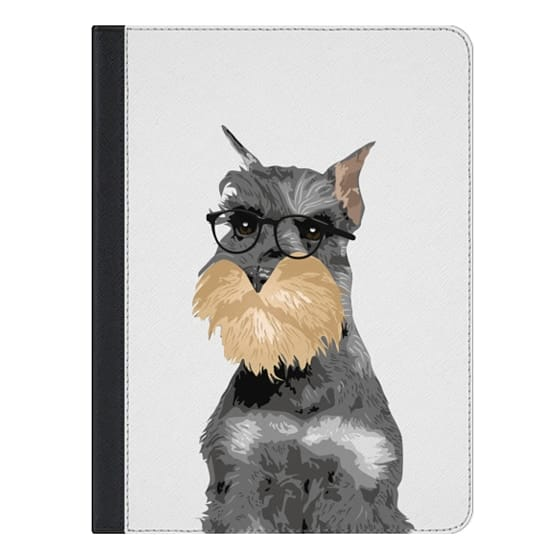 9.7-inch iPad Pro Covers - Hipster Schnauzer Dog iPad Case for Dog Lovers