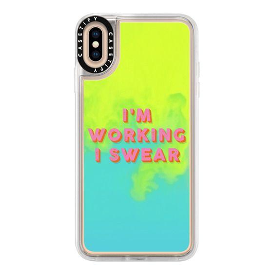 iPhone XS Max Cases - I'm Working I Swear