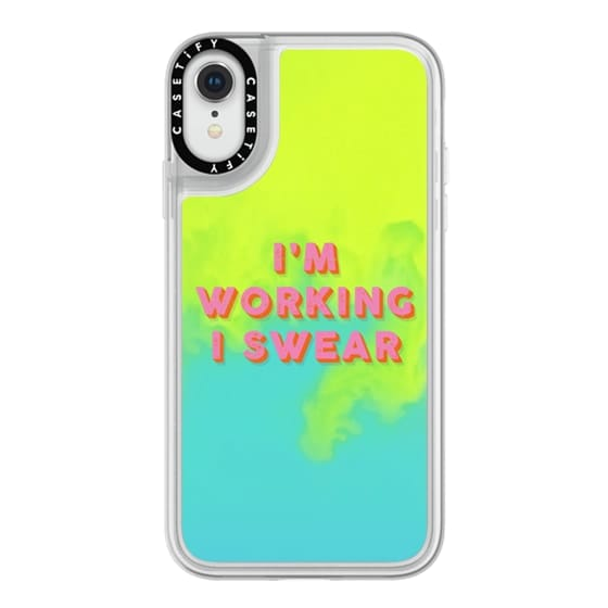 iPhone XR Cases - I'm Working I Swear