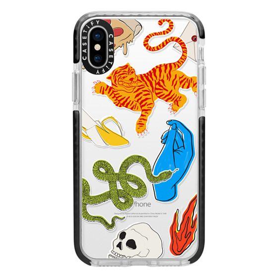 iPhone X Cases - Tattoo Teddy