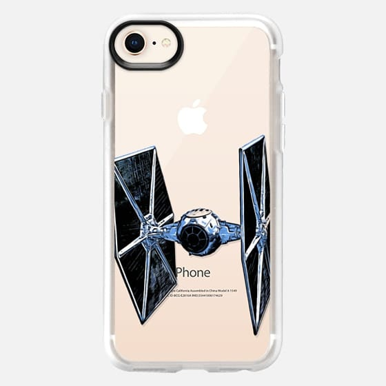 Space Fighter Semi-Transparent - Snap Case