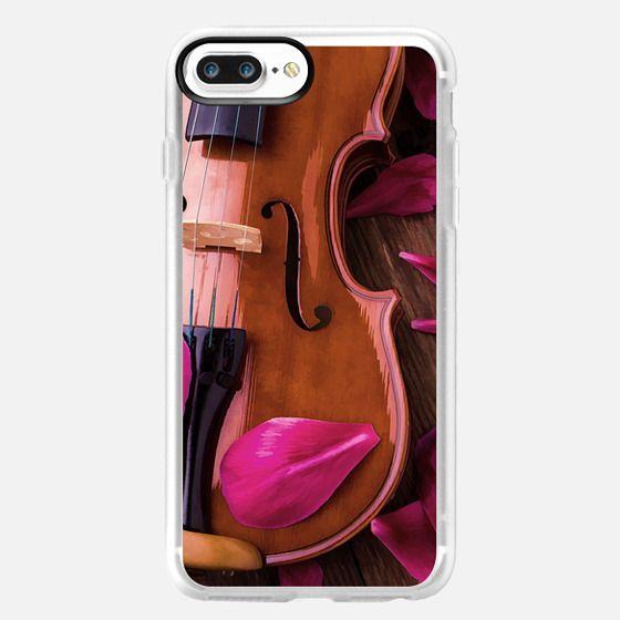 Violin and Rose Petals -