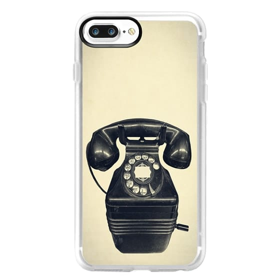 Classic Grip iPhone 7 Plus Case - Old Telephone
