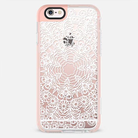 White boho mandala - New Standard Pastel Case