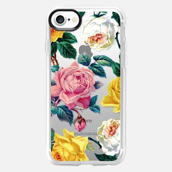 Vintage Botanicals - Spring Roses - Wallet Case