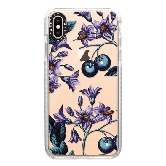 iPhone XS Max Cases - Vintage Botanicals - Purple Mystery