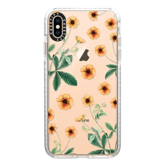 iPhone XS Max Cases - Vintage Botanical - Yellow Wild Flowers