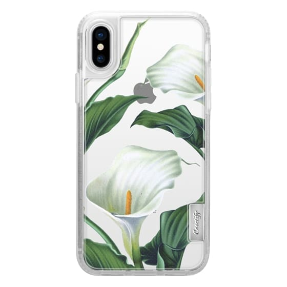 iPhone X Cases - Vintage Botanicals - Calla Lily