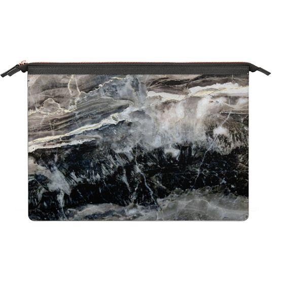 MacBook 12 Sleeves - Onyx Black Marble
