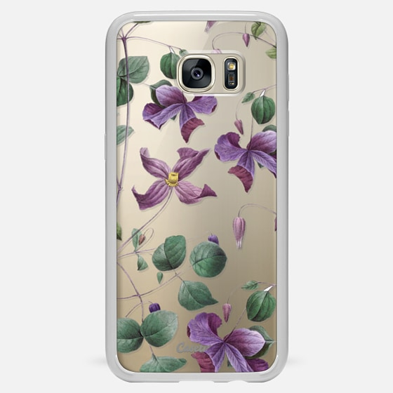 Galaxy S7 Edge Hülle - Vintage Botanical - Wild Flowers