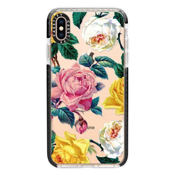 iPhone XS Max Cases - Vintage Botanicals - Spring Roses