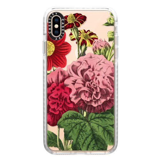 iPhone XS Max Cases - Vintage Botanical - Peonies