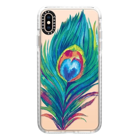 iPhone XS Max Cases - Peacock Love