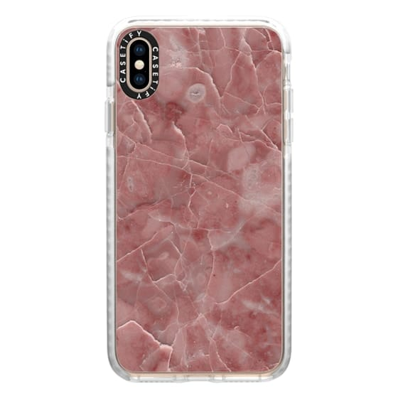 iPhone XS Max Cases - Blood Pink Marble