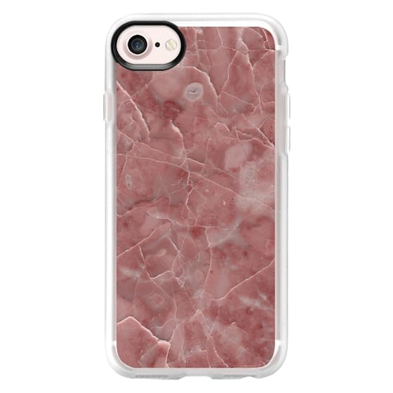 iPhone XS Cases - Blood Pink Marble