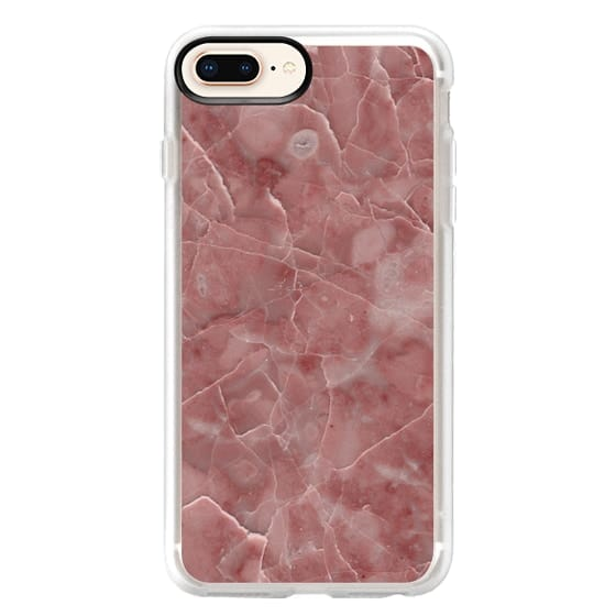 iPhone 8 Plus Cases - Blood Pink Marble