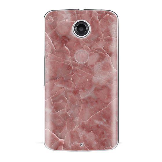 Nexus 6 Cases - Blood Pink Marble