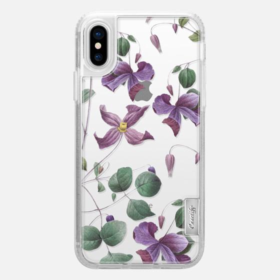 iPhone X Hülle - Vintage Botanical - Wild Flowers