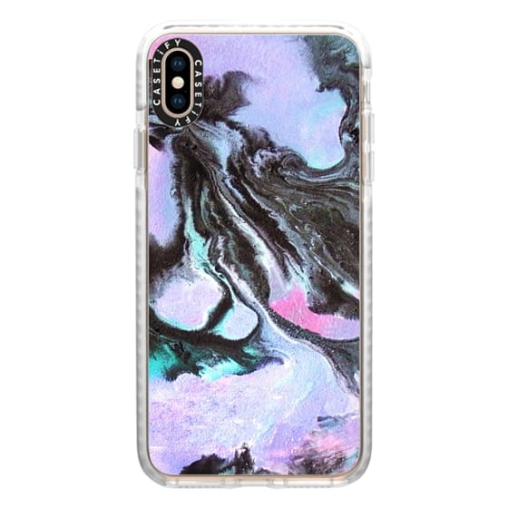iPhone XS Max Cases - Deep Purple Marble