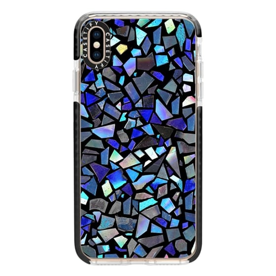 iPhone XS Max Cases - Deep Blue Crystal