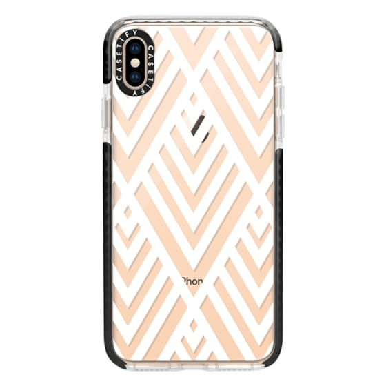 iPhone XS Max Cases - White Geometric Pattern