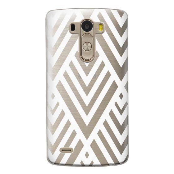 Lg G3 Cases - White Geometric Pattern