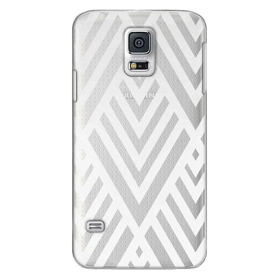 Samsung Galaxy S5 Cases - White Geometric Pattern