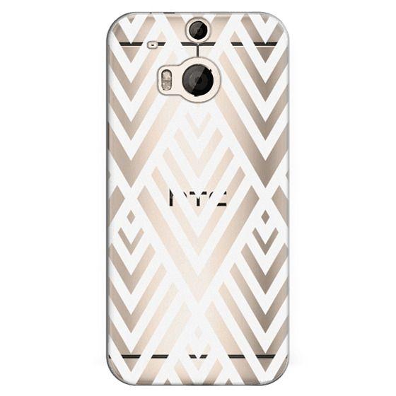 Htc One M8 Cases - White Geometric Pattern