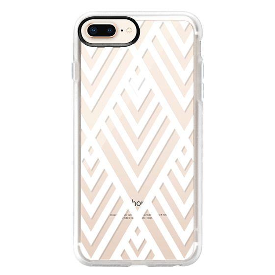 iPhone 8 Plus Cases - White Geometric Pattern