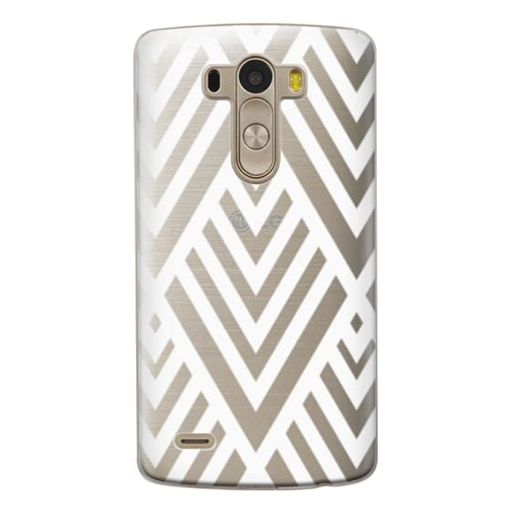 Lg G3 Cases - White Geometric Pattern