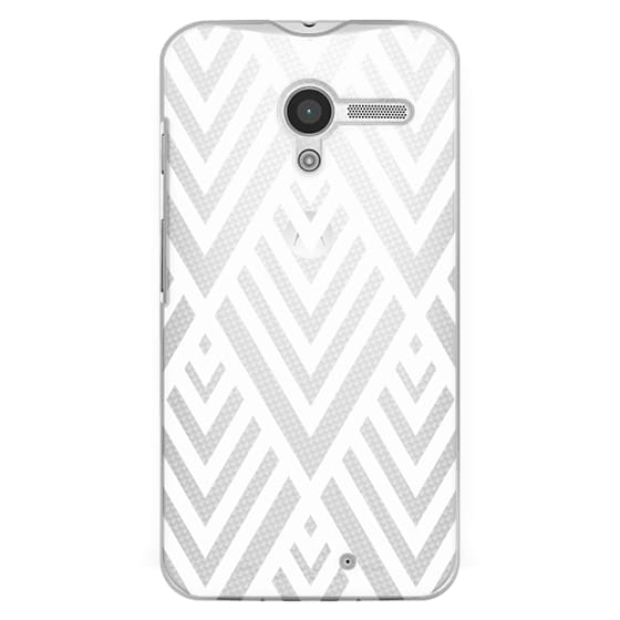 Moto X Cases - White Geometric Pattern