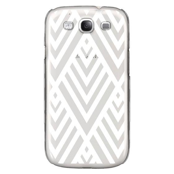 Samsung Galaxy S3 Cases - White Geometric Pattern